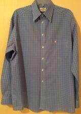 Pre di proprietà Eton Royal 2 volte Super Cotone Blu/Bianco/Blu Marino Check Camicia. Taglia: 16.5.