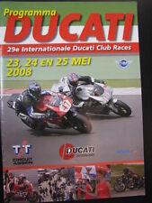 Programmaboekje 29e Internationale Ducati Club Races 2008 TT Circuit Assen