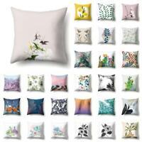 Vintage Flower Pillow Case Cover Sofa Car Throw Waist Cushion Cover Home Decor