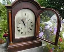 antique bracket clock 19th century Westminster chimes large mantle HAC