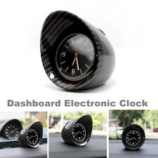 Carbon Fiber Color Car Interior Dashboard Electronic Clock w/ Backlight for BMW
