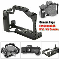 Metal Camera Expansion Cage Rig for Canon EOS M50/M5 Mirrorless Camera Black