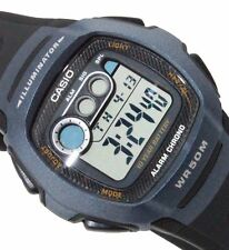 Casio Unisex W210-1BVES Black Strap Blue Case Digital Watch RRP £19.99 WOW DEAL