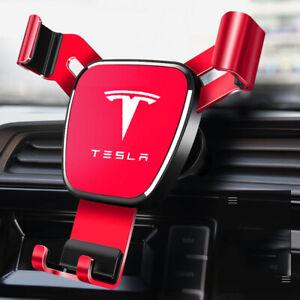 Air Vent Gravity Car Mobile Phone Holder Fit For Tesla model 3 Model S Model X