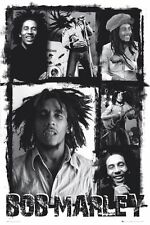 Bob Marley Póster Decoración Mural Foto Para Hogar Collage LP1258 Maxi