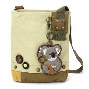 New Chala Patch Crossbody Bag gift Messenger Canvas Sand Beige KOALA Coin Purse