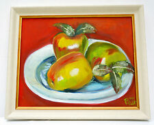 "Attractive Oil painting,"" Fruit still life"", framed, signed, 59x50 cm"