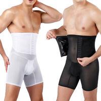 Men's Waist Trainer Belt Tummy Slimming Body Shaper Cincher Control Pants Shorts