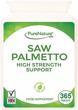 Saw Palmetto 3000mg High Strength Superior Grade 365 Tablets
