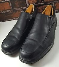 Crofts & Barrow Men's Slip On Black Leather Dress Or Casual Loafers Shoes 12 M