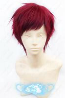 USJF893 charming  Short dark Red Straight  hair Cosplay Wig  wigs for women