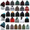 Ethos Beanie Hat Flap Long Slouch New York Winter Hat Pompom Cap Jersey