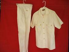 1980 vintage women ivory denim jeans safari suit sysser ginsborg design denmark