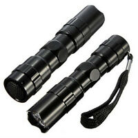 Sale Portable 3W Mini LED Flashlight Torch Light Lamp Outdoor Camping 1AA Black