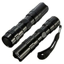 Sales well Portable Mini LED Flashlight Torch Lamp Outdoor Camping 1AA Black