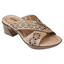 New Earth Balsam  leather women's slide sandal shoes size 6