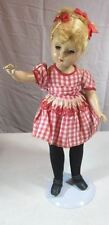 Vintage c. 1930's R & B Arranbee Composition Doll Blonde Old Clothing Eyes Work