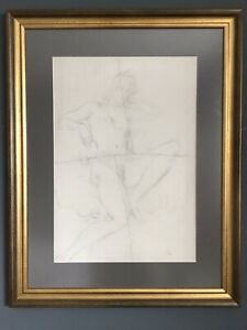 Augustus John, large original drawing, pencil signed, 1939, nude