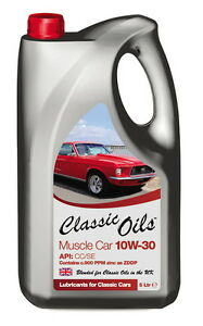 Classic Oils Muscle Car 10W30 Mineral Engine Oil 4 x 5 litres