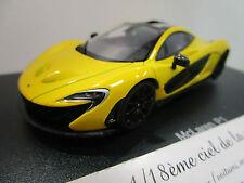 McLAREN P1 jaune au 1/43 AUTOART 56011 voiture miniature
