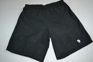 18863-a Mens Mountain Hardwear Shorts Running Polyester Size Large Black