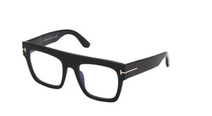 Tom Ford FT 0847 Renee 001 Black/Blue Block Square Women's Eyeglasses