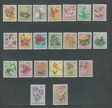 Belgian Congo, Postage Stamp, #263-284 Mint Hinged, 1952-53 Flowers, JFZ