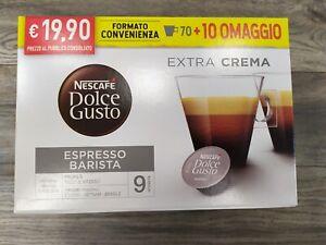 80 CIALDE CAPSULE NESCAFE' DOLCE GUSTO CAFFE' ESPRESSO BARISTA ORIGINALI