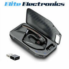 PLANTRONICS VOYAGER 5200 UC OVER EAR BLUETOOTH HEADSET + CHARGE CASE & DONGLE