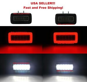 SMOKED LENS LED REAR BUMPER REVERSE FOG LAMPS For 2002-18 MERCEDES G CLASS W463