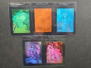 1992 MARVEL UNIVERSE SERIES III 3 HOLOGRAM COMPLETE 5 CARD SET #H1-H5 IMPEL NMMT