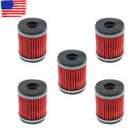 5pcs Oil Filter for Yamaha Raptor 250 YFM250 YFM250R YFM250RW 2008-2013 HF140