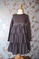 Jottum dark brown BOW dress/jurk/robe/kleid black sz 134/140-9/10 yrs good condi