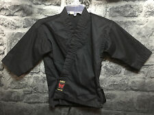 Double Dragon Black Taekwondo Karate Martial Arts Gi Wrap Shirt Kids Size - 000