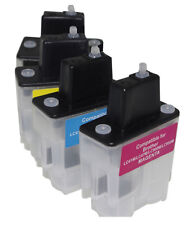 Brother LC900 LC950 - 4 x Cartouches Rechargeables non-oem★★★