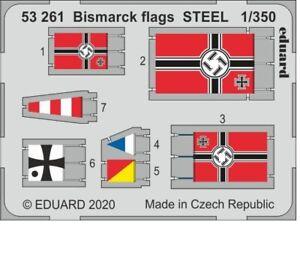 Eduard 1/350 German Battleship Bismarck Flags Detail Set for Trumpeter kits