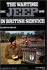 Tempo di guerra JEEP nel libro di servizio britannico WW2 US ARMY WILLYS MB FORD BIANCA GPW Militare