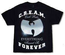 "WU TANG CLAN ""SPARKLE C.R.E.A.M."" BLACK T-SHIRT NEW OFFICIAL ADULT XL"
