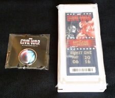 CAPTAIN AMERICA: CIVIL WAR Commemorative Movie Premiere Ticket #695/5100 & Pin