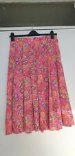 Vintage Jaeger Pink Psychedelic Pleated Skirt fit UK 12