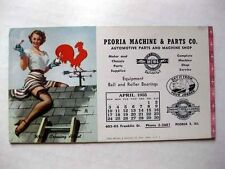 April 1955 Elvgren Pin Up Girl Blotter Worth Crowing About