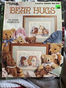 Vintage Bear Hugs Cross Stitch Leisure Arts 2065 Donna Richardson