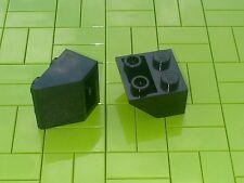Nouveau briques lego - 10 x Noir 2x2 Inverted pente brique 45 3660 -