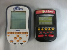 Yahtzee 1995 Milton Bradley &  BIG SCREEN SUDOKU Handheld Travel Portable Games