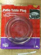 Plastic Round Plastic Umbrella Hole Plug Clear 2 in. W