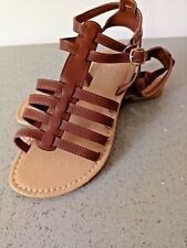 3895f0c683f New Simply Be Brown gladiator flat sandals size 4 to 9 wide fit ref S7U