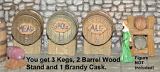 Painted Tavern Kegs, Barrels and Cask - Works with Dwarven Forge & DnD D&D