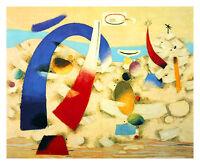 Willi Baumeister Metaphysische Landschaft Poster Kunstdruck Bild 51x62cm