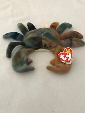 Rare Claude the Crab Ty Beanie Baby 5th generation