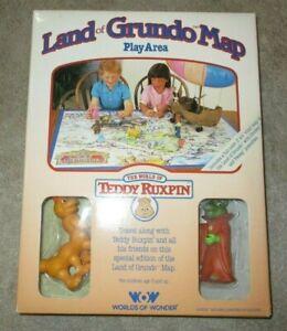 NIB 1985 Land of Grundo Map Play Area - World of Teddy Ruxpin Worlds of Wonder
